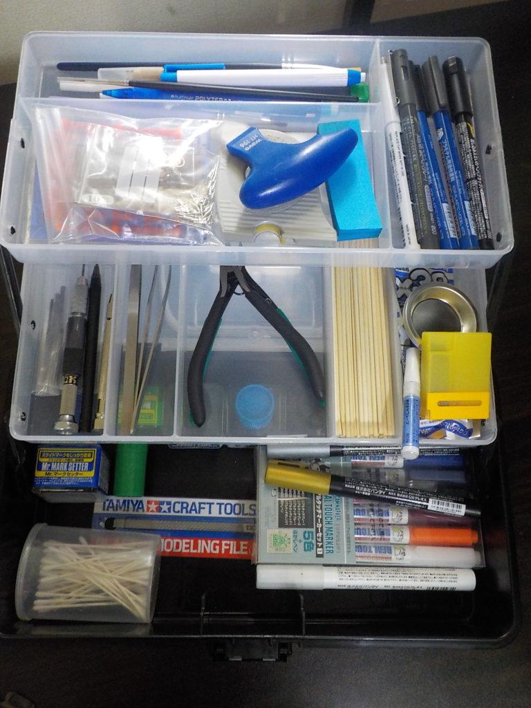 ガンプラ工具をスッキリ収納。スペースがない人に、この工具箱がおすすめ。